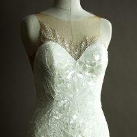 Eve - Aire - détail devant - la mariée à Bicyclette - robe de mariée occasion