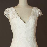 Garance - Cymbeline - detail devant - la mariée à Bicyclette - robe de mariée occasion