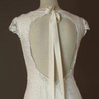 Garance - Cymbeline - detail dos - la mariée à Bicyclette - robe de mariée occasion