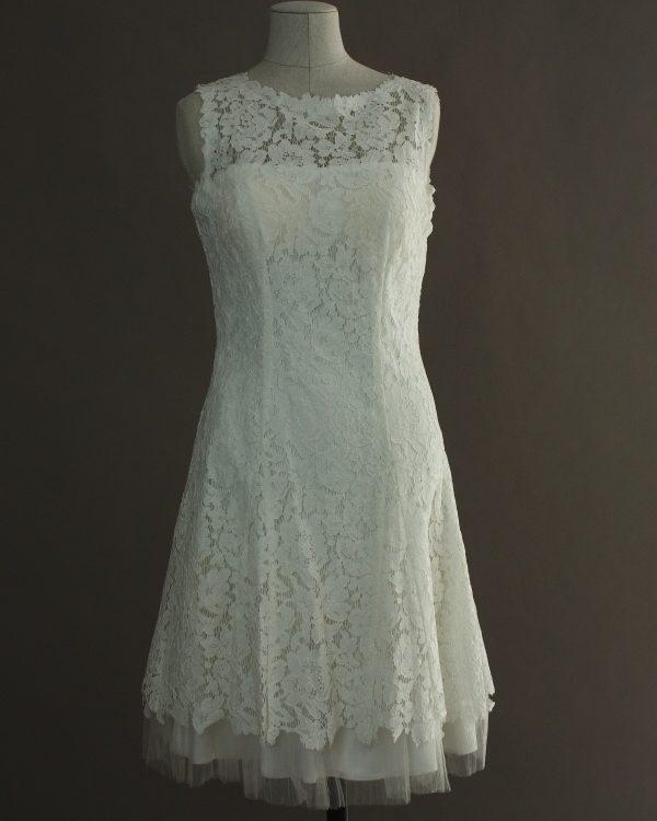 Gaelle - Linea Raffaelli - devant - la mariée à Bicyclette - robe de mariée outlet