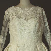 Margaux - Pronovias - detail devant - la mariée à Bicyclette - robe de mariée occasion