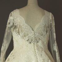 Margaux - Pronovias - detail dos - la mariée à Bicyclette - robe de mariée occasion