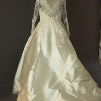 Margaux - Pronovias - dos - la mariée à Bicyclette - robe de mariée occasion