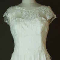 Lisboa - Sadoni - La mariee à bicyclette - robe de mariée d'occasion - detail devant