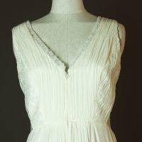 Norway - Sadoni - La mariee à bicyclette - robe de mariée outlet - detail devant