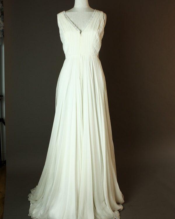 Norway - Sadoni - La mariee à bicyclette - robe de mariée outlet - devant