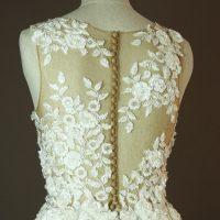 Diouma - Pronovias - Taciana - La mariee à bicyclette - robe de mariée occasion - detail dos
