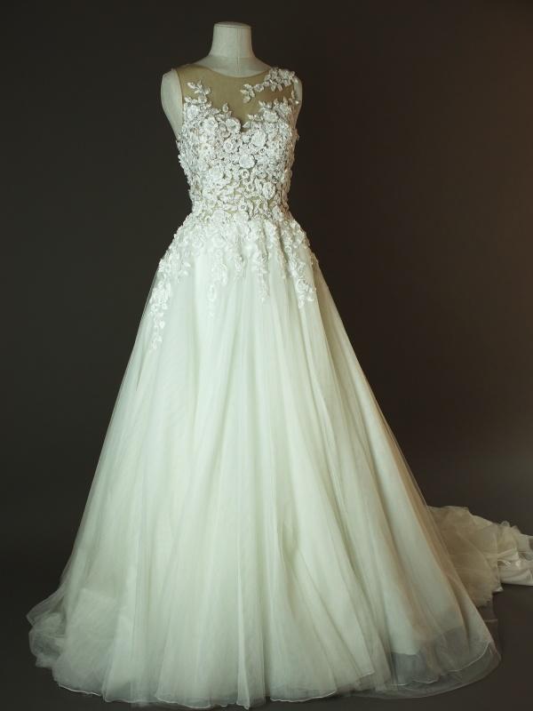 Diouma - Pronovias - Taciana - La mariee à bicyclette - robe de mariée occasion - devant