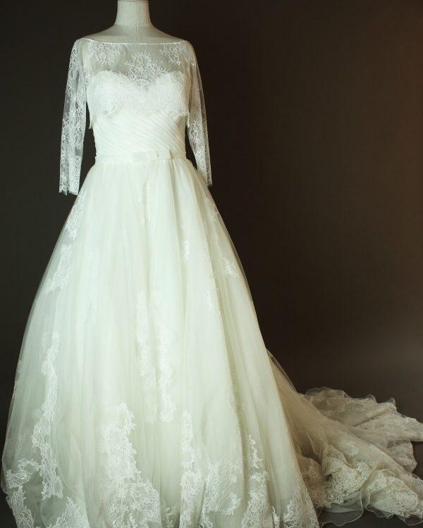 Eléa - Aire Barcelona - La mariee à bicyclette - robe de mariée occasion - devant