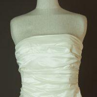 Déolinda - Rembo Styling - La mariee à bicyclette - robe de mariée occasion - detail devant