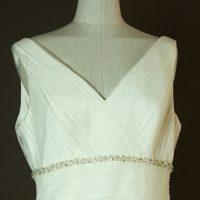 Gatienne - Marylise - La mariee à bicyclette - robe de mariée occasion - detail devant