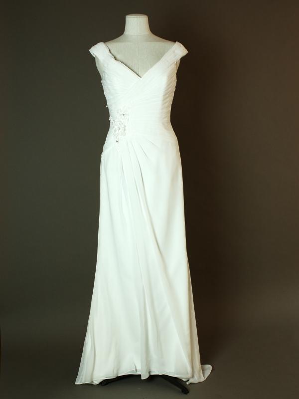 Delya - Linea Raffaelli - La mariee à bicyclette - robe de mariée occasion - devant