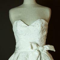 Pocker face - Max Chaoul - La mariee à bicyclette - robe de mariée occasion - detail devant