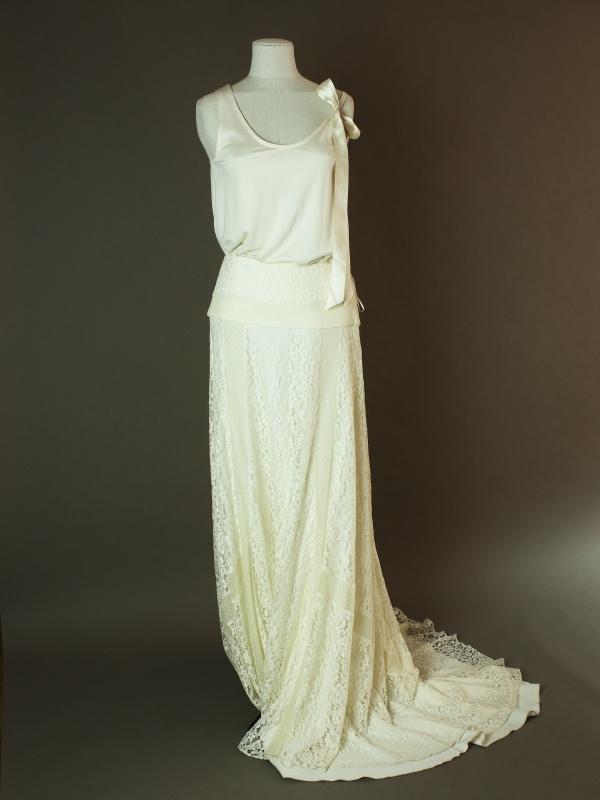 Abristol & top jersey - Delphine Manivet - La mariee à bicyclette - robe de mariée outlet - devant