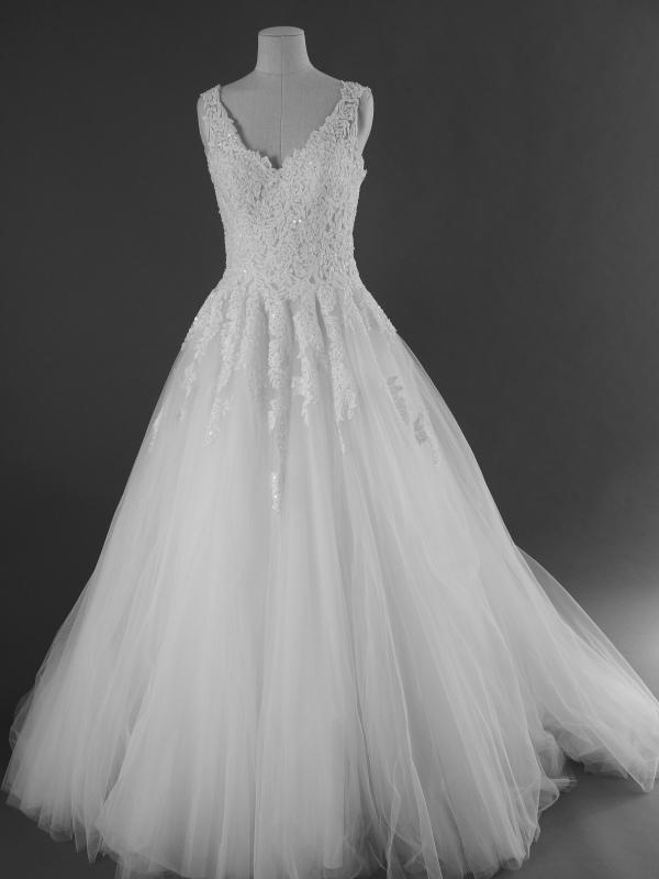 Florine - Rosa Clara - La mariée à bicyclette - robe de mariée d'occasion - devant