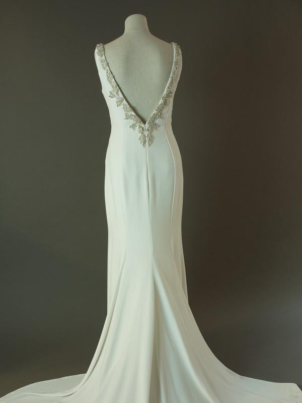 Tatianna - Pronovias - La mariée à bicyclette - robe de mariée d'occasion - dos