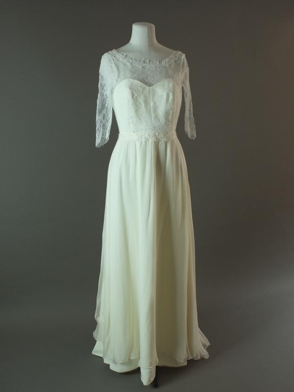 Delya - Upsylon - La mariée à bicyclette - robe de mariée d'occasion - devant