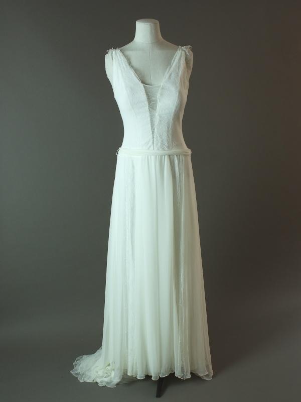 Feriel - Rembo Styling - La mariée à bicyclette - robe de mariée d'occasion - devant