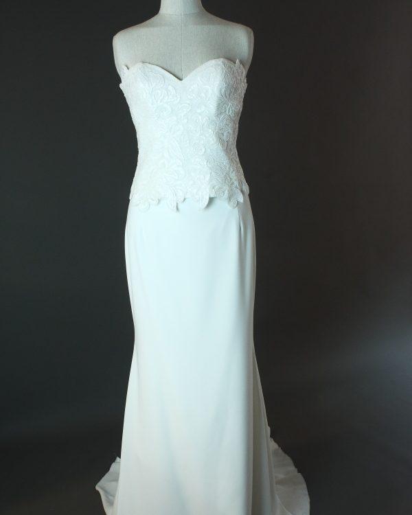 Darline - Cymbeline - devant - la mariée à Bicyclette - robe de mariée occasion