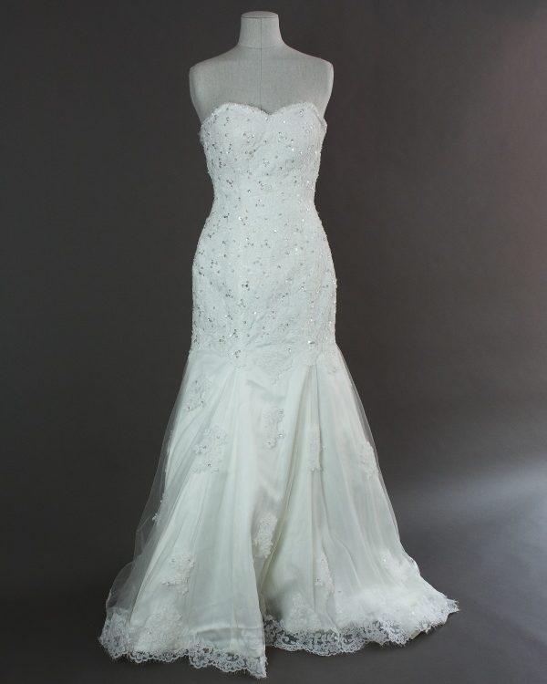 Diala - Be couture - devant - la mariée à Bicyclette - robe de mariée occasion