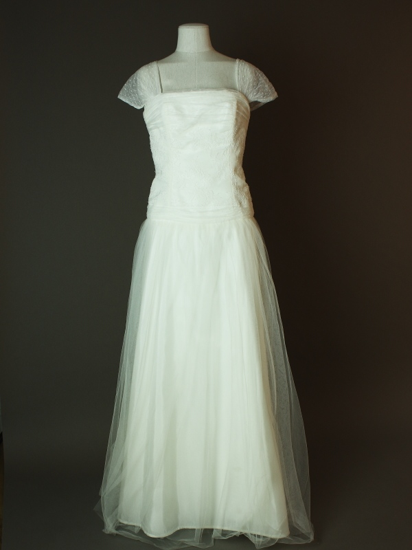 Elisabeth - Lambert Creation - La mariée à bicyclette - robe de mariée d'occasion - devant