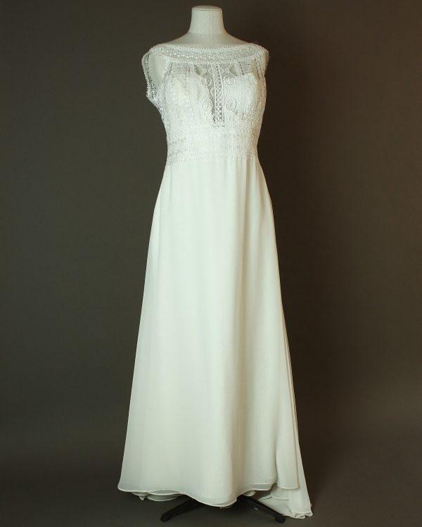 Laurence - San Patrick - La mariee à bicyclette - robe de mariée occasion - devant