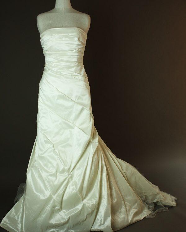 Déolinda - Rembo Styling - La mariee à bicyclette - robe de mariée occasion - devant