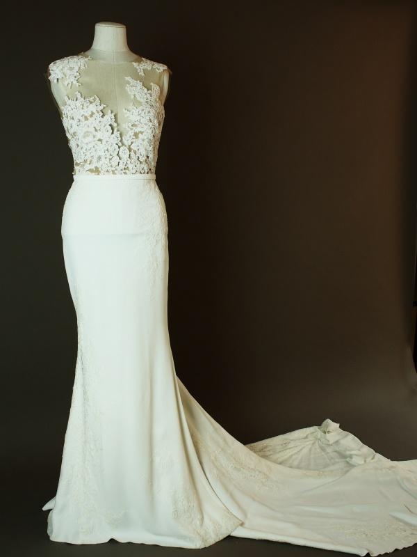Diba - Pronovias - Vicenta - La mariee à bicyclette - robe de mariée occasion - devant