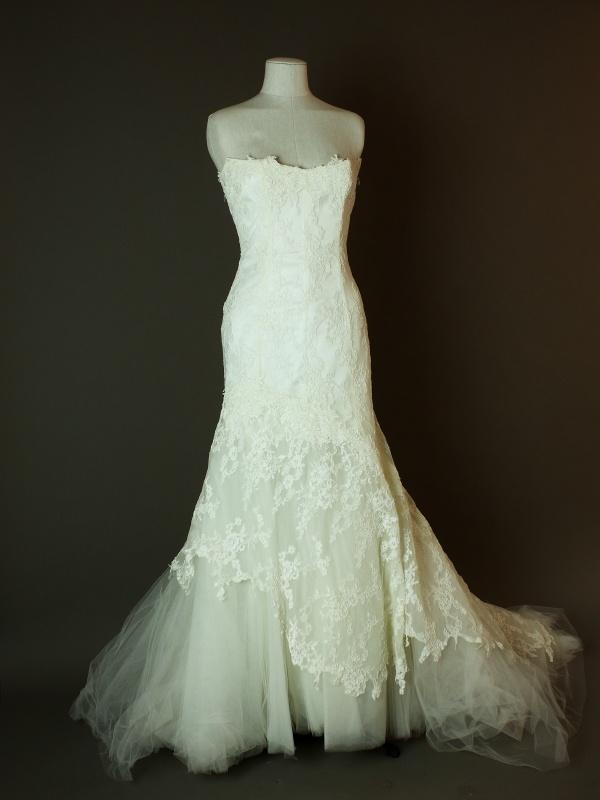 Daouia - Cymbeline - La mariée à bicyclette - robe de mariée occasion - devant