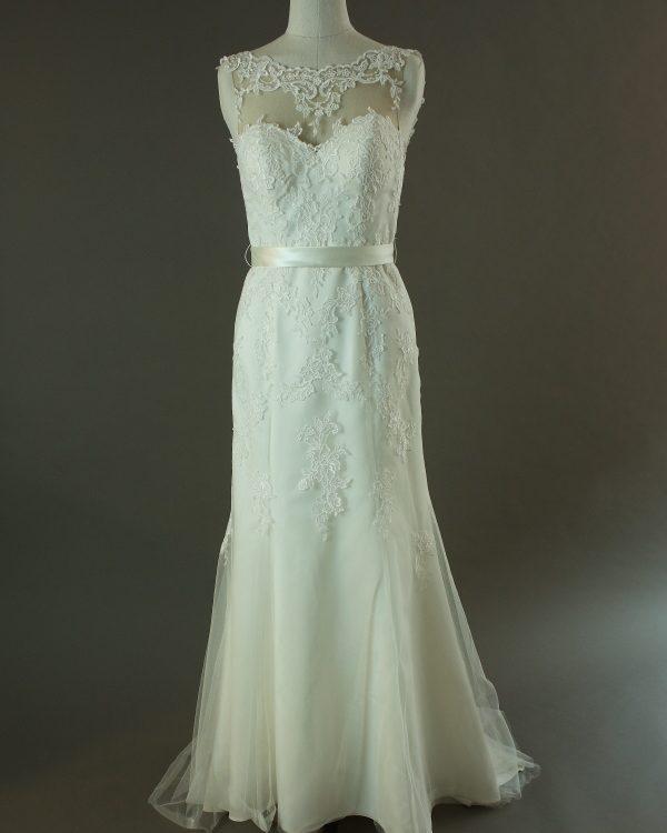 Flavie - Orea Sposa - La mariée à bicyclette - robe de mariée d'occasion - devant