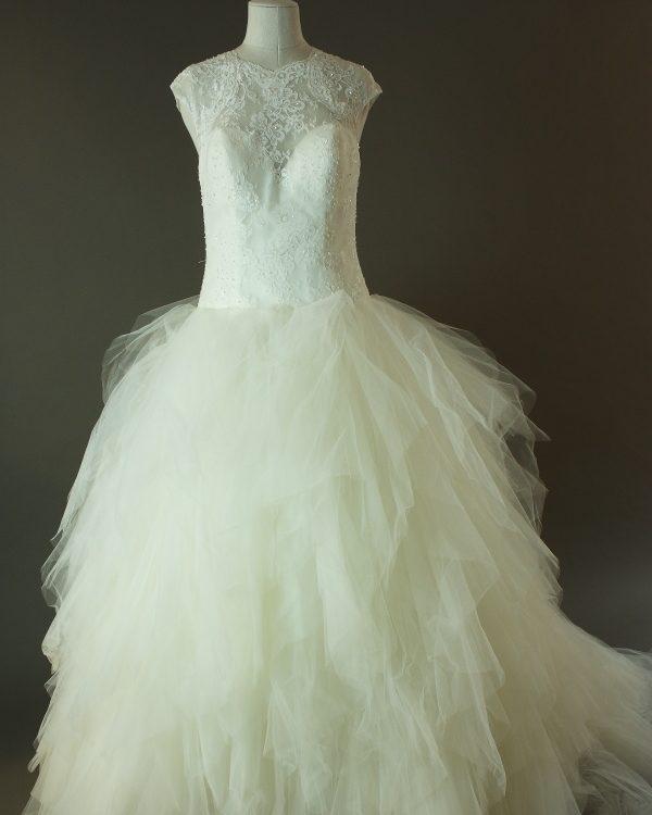 Febe - La mariée à bicyclette - robe de mariée outlet - devant