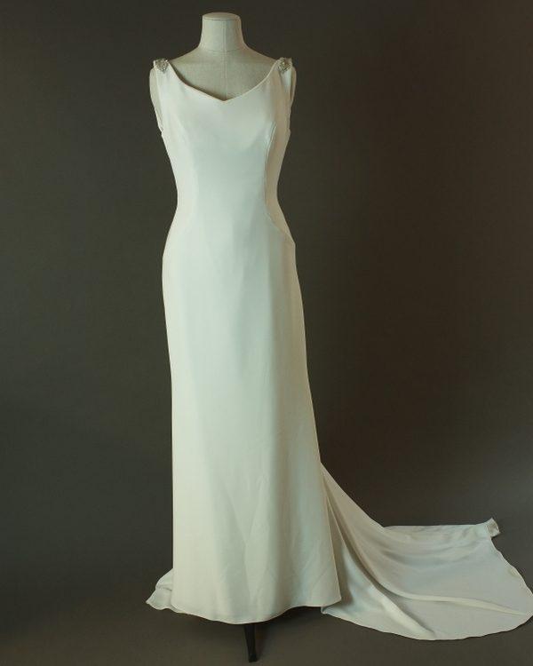 Tatianna - Pronovias - La mariée à bicyclette - robe de mariée d'occasion - devant