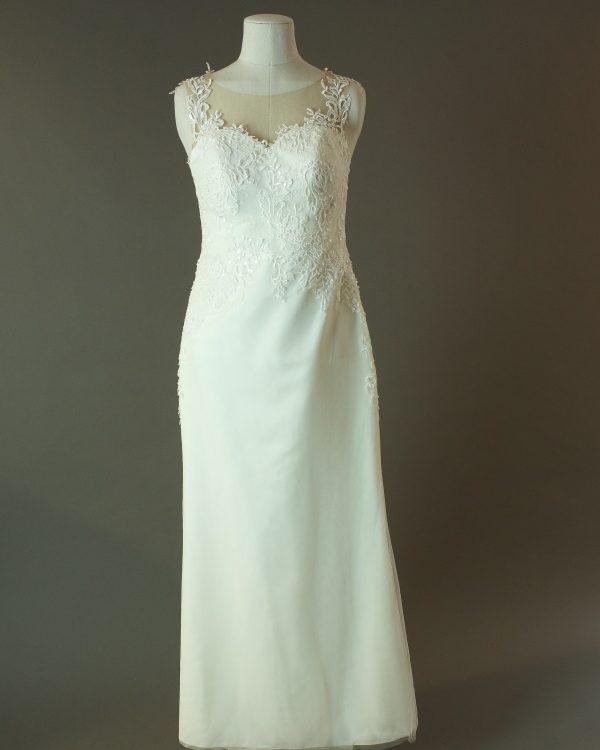 Elisée - Bruno Kennedy - La mariée à bicyclette - robe de mariée d'occasion - devant