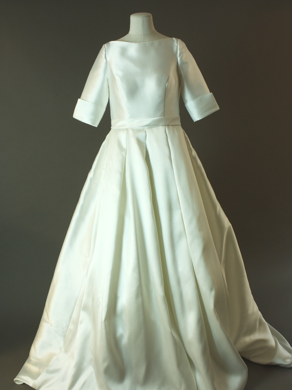 Livine - Pronuptia - Vaugirard - La mariée à bicyclette - robe de mariée d'occasion - devant