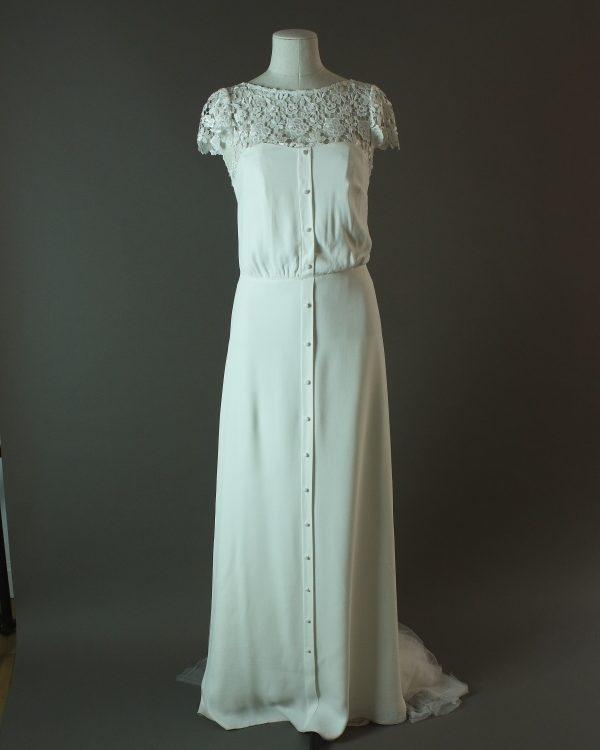 Joya - Rembo Styling - La mariée à bicyclette - robe de mariée d'occasion - devant