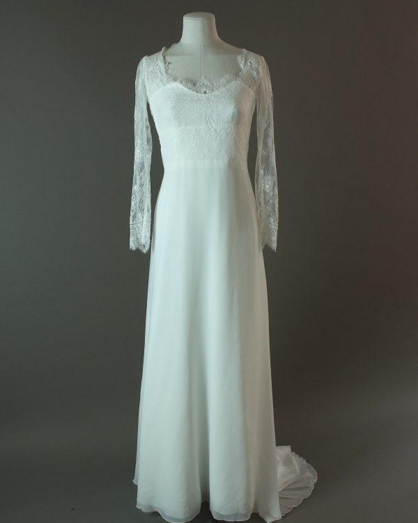 Hortense - Elsa Gary - La mariée à bicyclette - robe de mariée d'occasion - devant