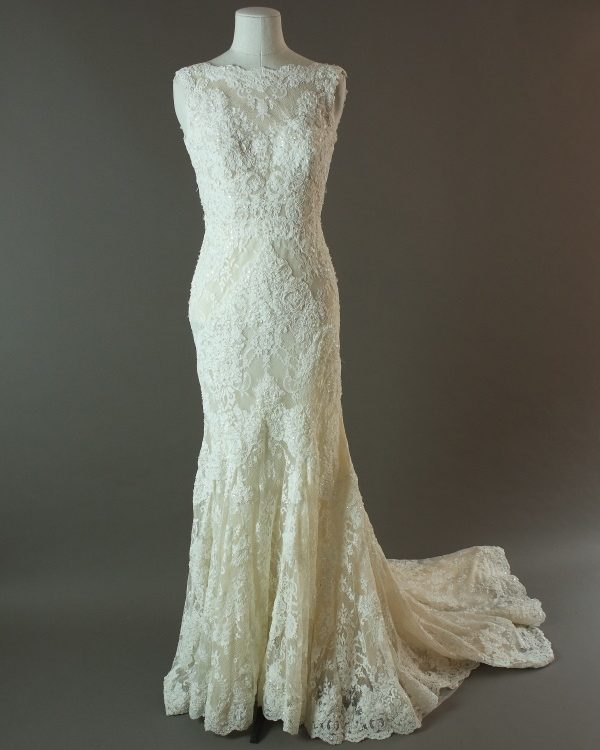 Dauphina - La mariée à bicyclette - robe de mariée d'occasion - devant