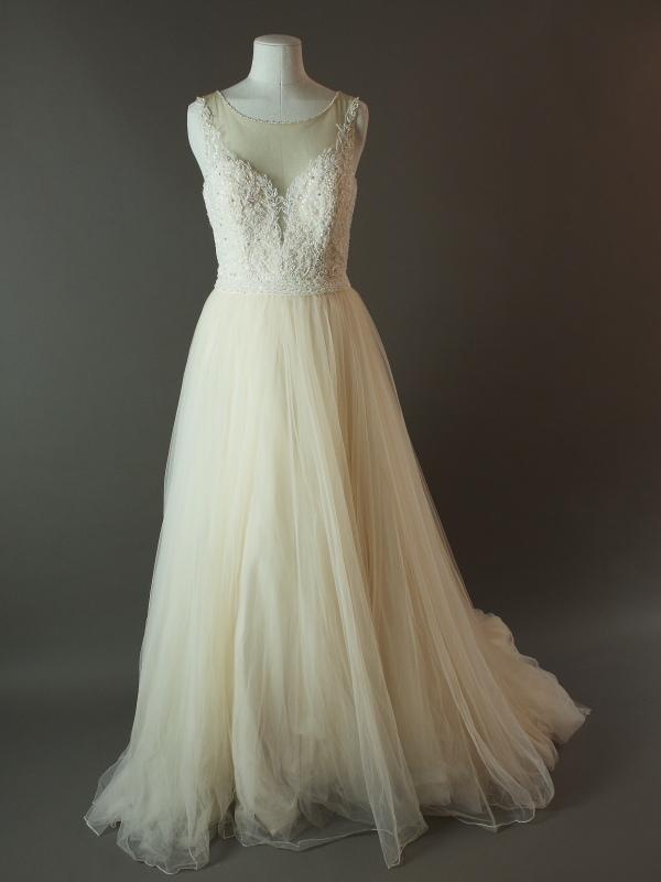 Ermine - Justin Alexander - La mariée à bicyclette - robe de mariée d'occasion - devant