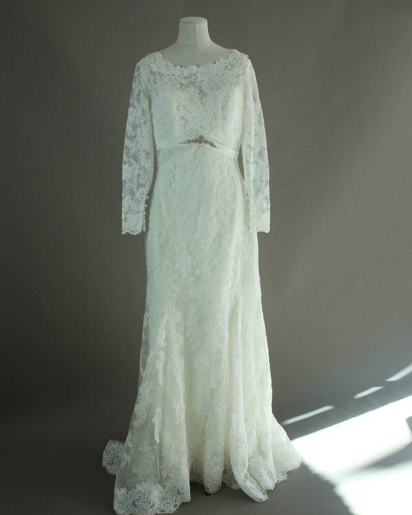Esme - Pronovias - La mariée à bicyclette - robe de mariée d'occasion - devant