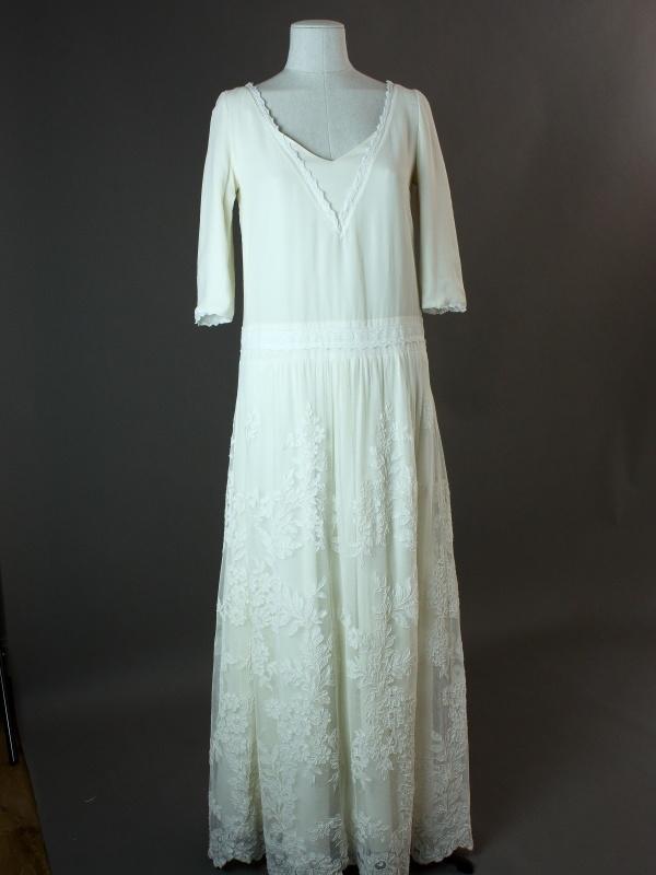Mauriac – Laure de sagazan – devant – la mariée à Bicyclette – robe de mariée occasion
