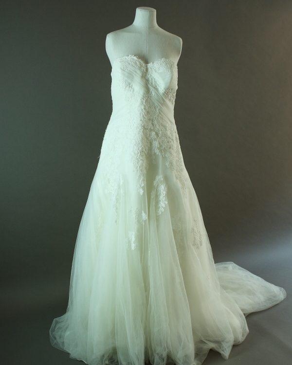 Rosaline - San Patrick - La mariée à bicyclette - robe de mariée d'occasion - devant