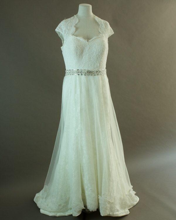 Sally - La mariée à bicyclette - robe de mariée d'occasion - devant