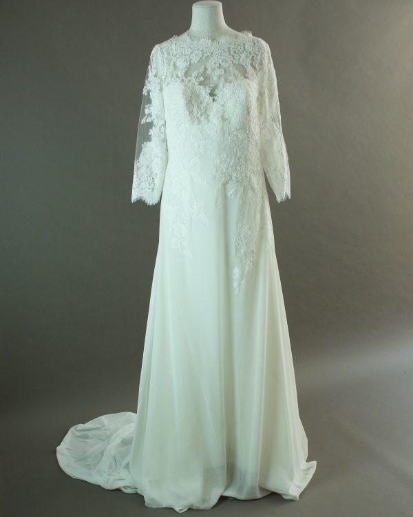 Gwen - La mariée à bicyclette - robe de mariée d'occasion - devant