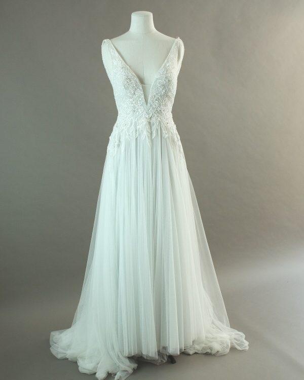 Kiandra - La mariée à bicyclette - robe de mariée d'occasion - devant