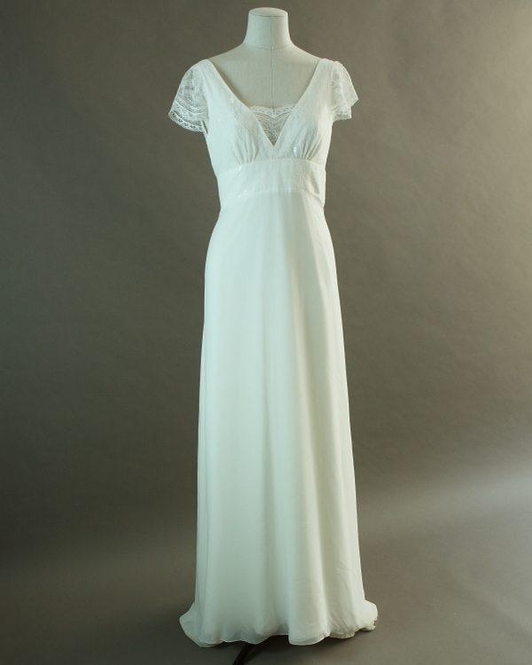 Valentine- Elsa Gary - La mariée à bicyclette - robe de mariée d'occasion - devant